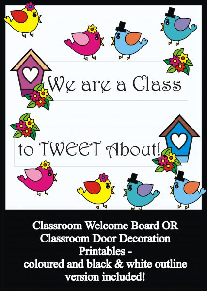 picture relating to Printable Door Decorations identify Lovable Birds Bulletin Board Preset / Clroom Welcome Doorway Decoration - Printables - Academics Assist Instructors