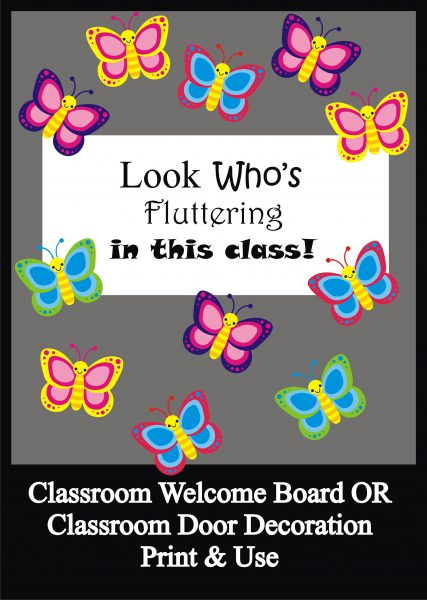 Butterfly Bulletin Board Set / Classroom Welcome Door Decoration ,  Printables , Teachers Help Teachers